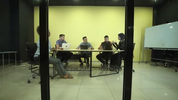 People having business meeting