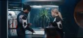 Astronauts discussing gardening experiment