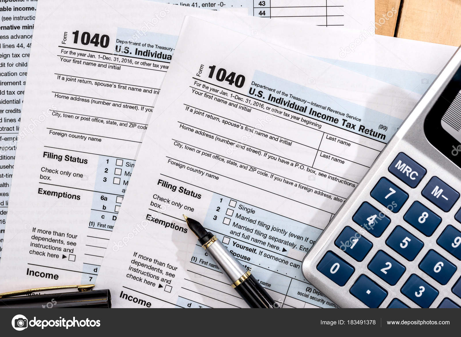 Tax Form 1040 Usa Payment Stock Photo Alfexe 183491378