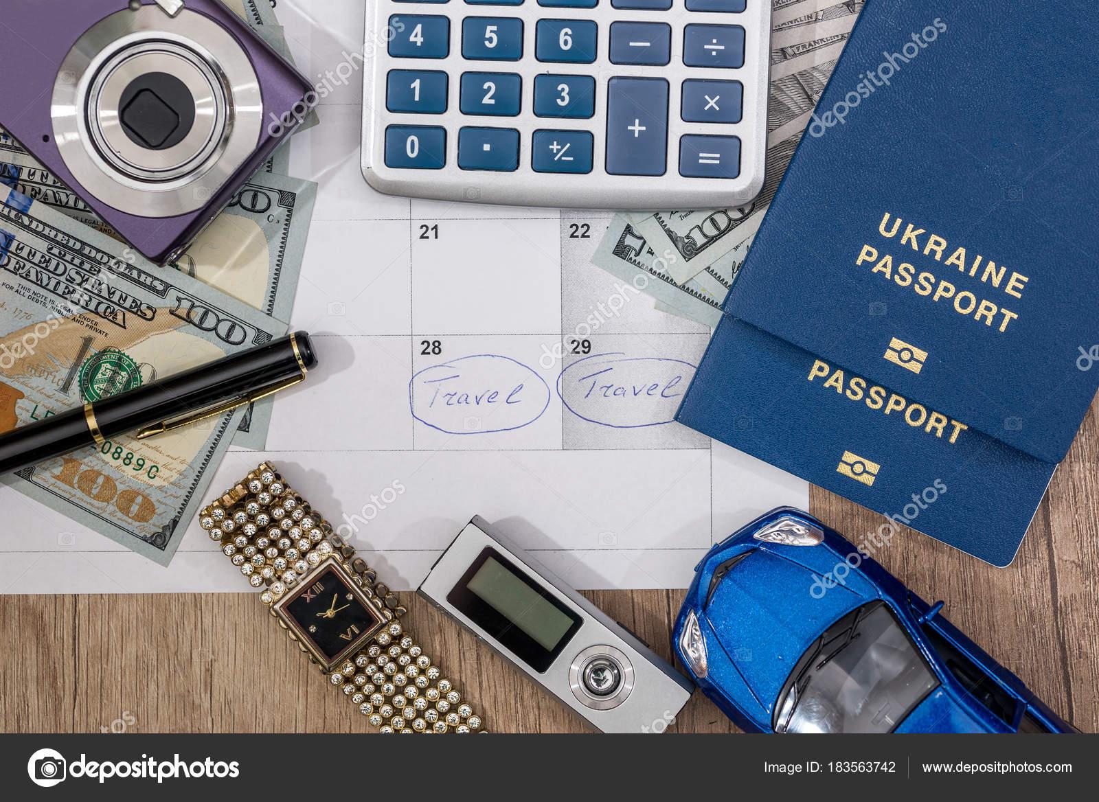 Voyage Appareil Passeport Calculatrice Temps Photo Montre Argent 4qAjc5LR3