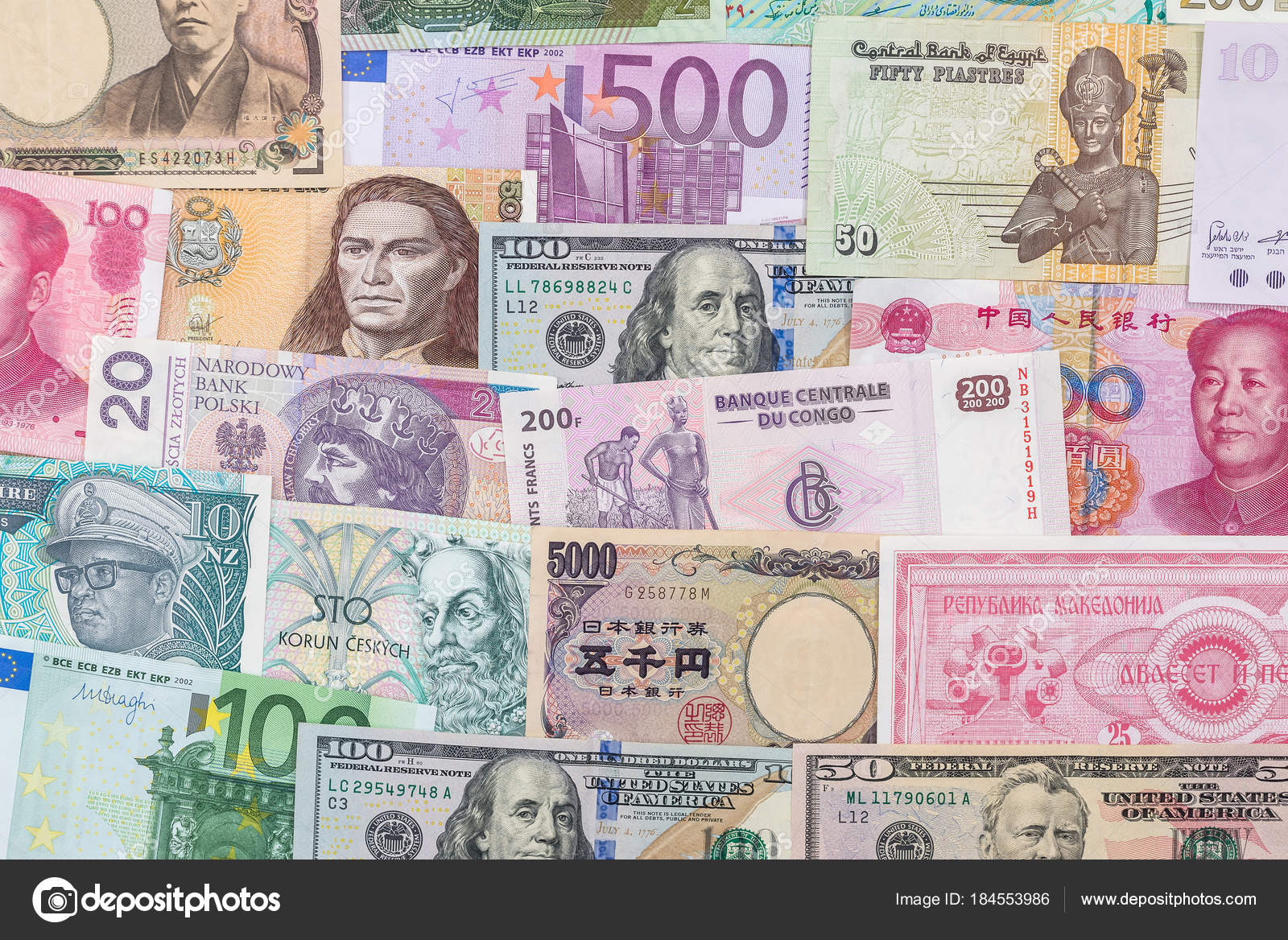 Pictures: world different currency   Many Different Currency
