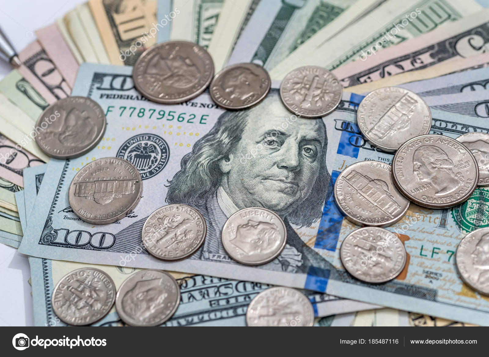 images of coins and bills