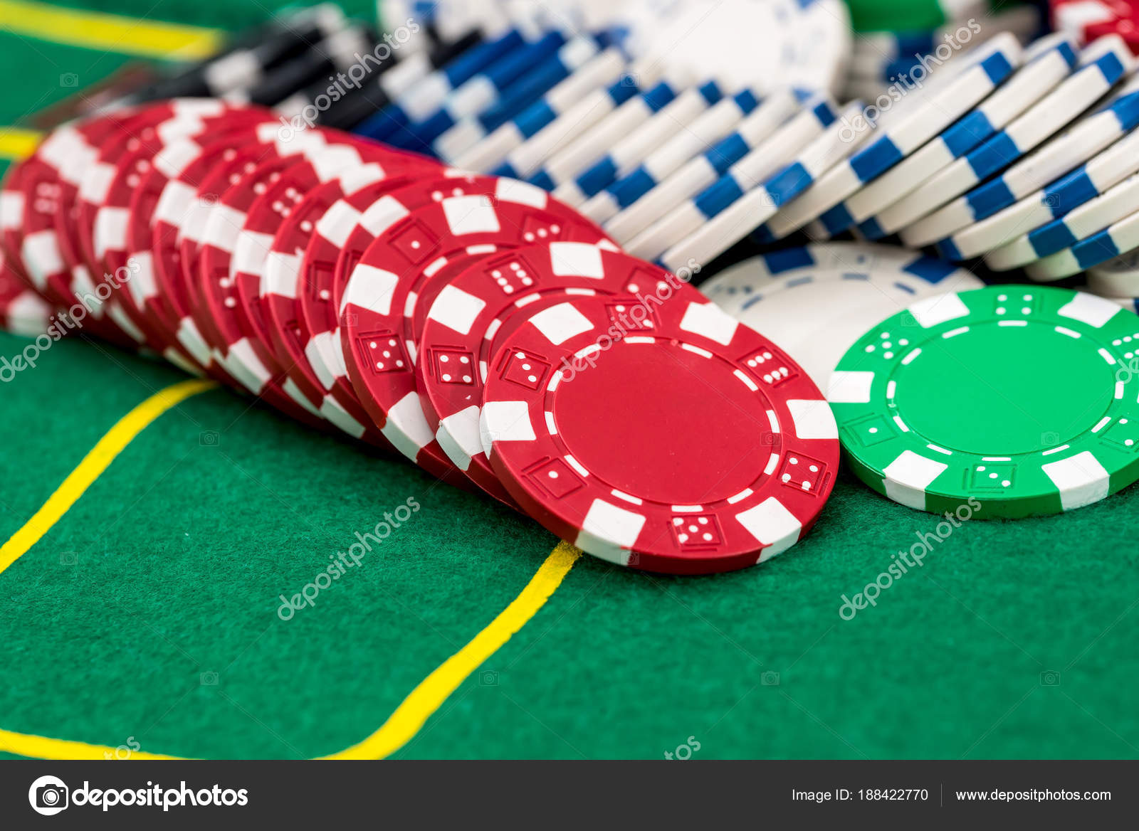 Different poker chips on table at casino u2014 Photo by alfexe & Different Poker Chips Table Casino u2014 Stock Photo © alfexe #188422770