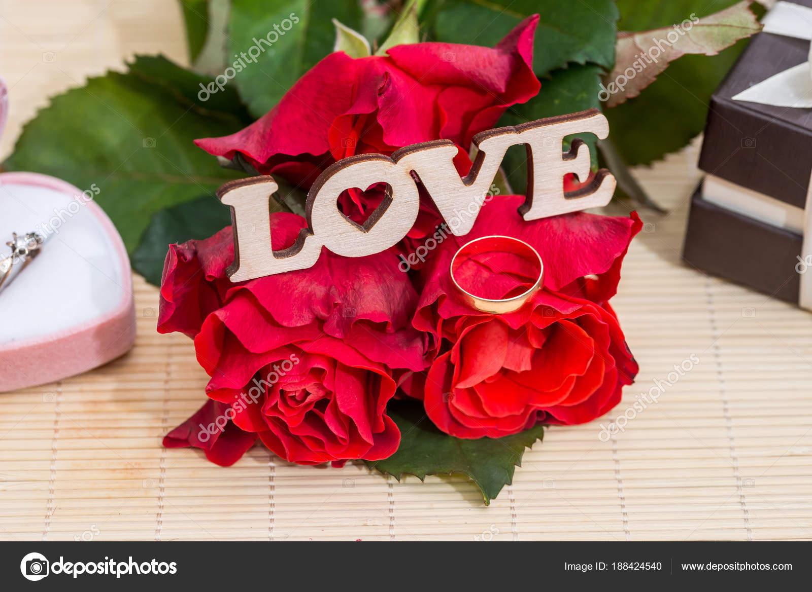 Concept Mariage Texte Amour Avec Anneaux Mariage Coffret
