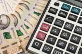 Uah ukrajinské peníze - Hryvnia s kalkulačkou. Uložit.