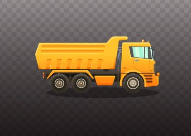Detailed vector illustration of truck.