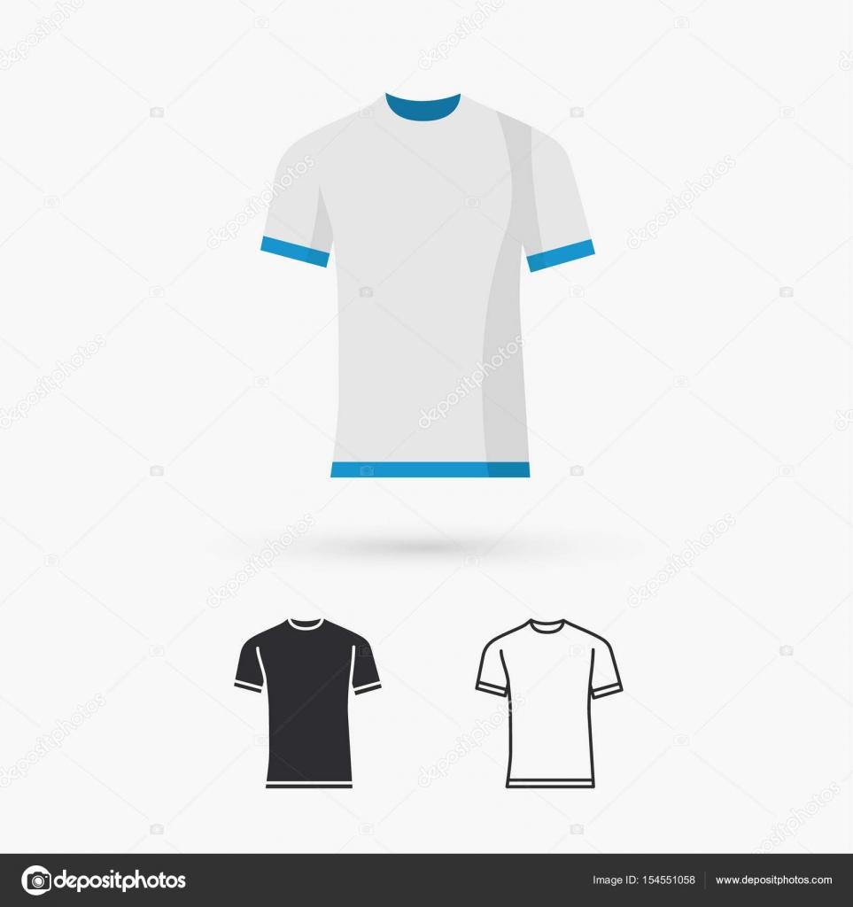 leere T-shirt-Vorlage — Stockvektor © marnikus #154551058
