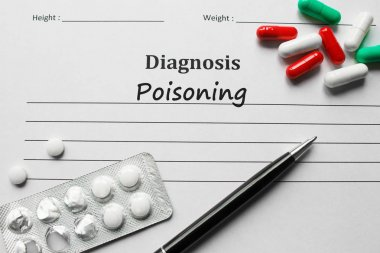 Poisoning on the diagnosis list, medical concept