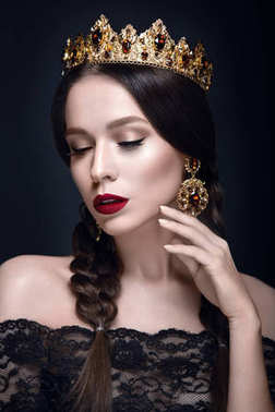 Beautiful woman with crown