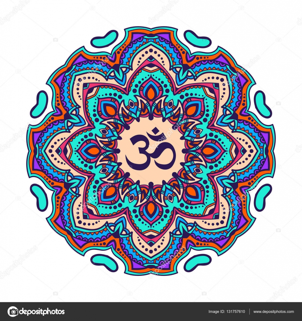 Indian mandala with the om symbol in the centre stock vector indian mandala with the om symbol in the centre stock vector buycottarizona