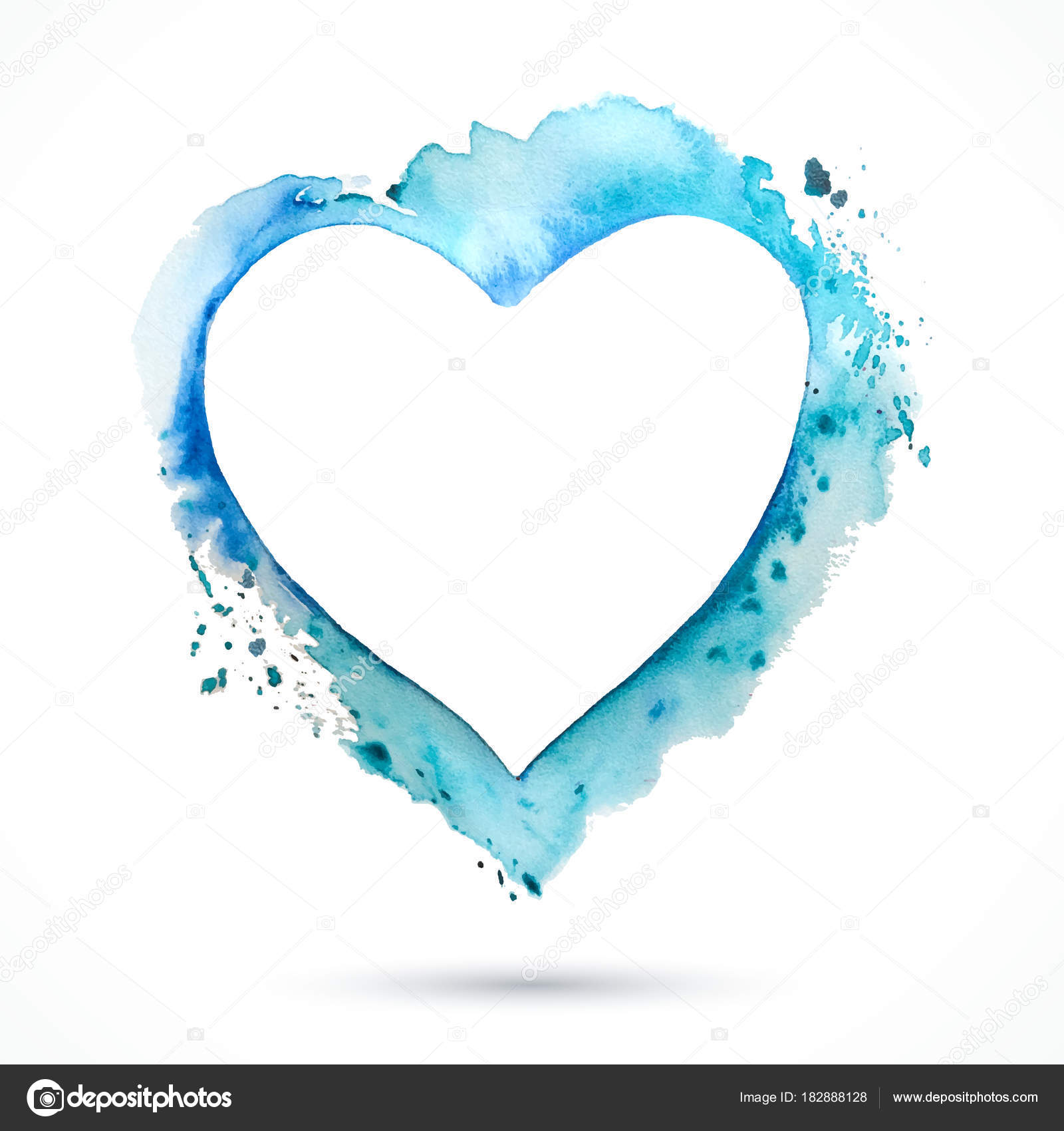 Heart-frame-blue — Stock Vector © baranovskaya #182888128