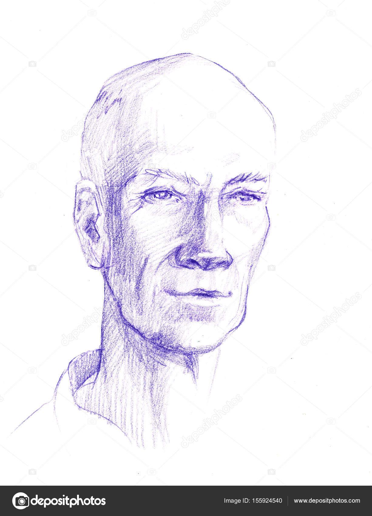 Illustration Du Dessin Du Visage De L Homme La Tête D Un