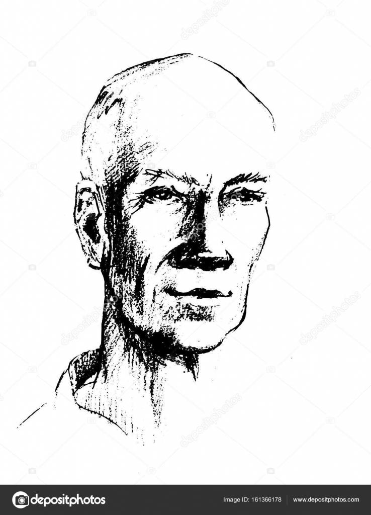 Vector Illustration Dessin Du Visage De L Homme La Tête D