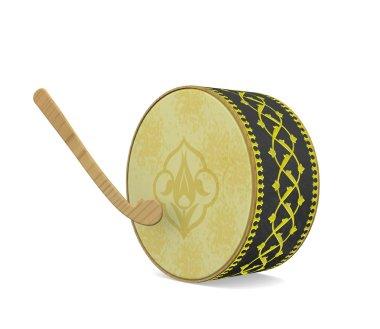 Ramadan Drum. Turkish Culture Musical Instrument.