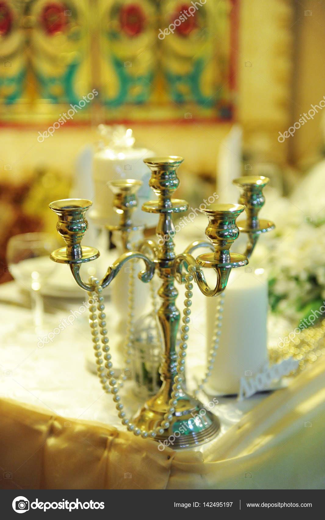 Vintage Kerzenstander Leuchter In Der Hochzeit Dekoration