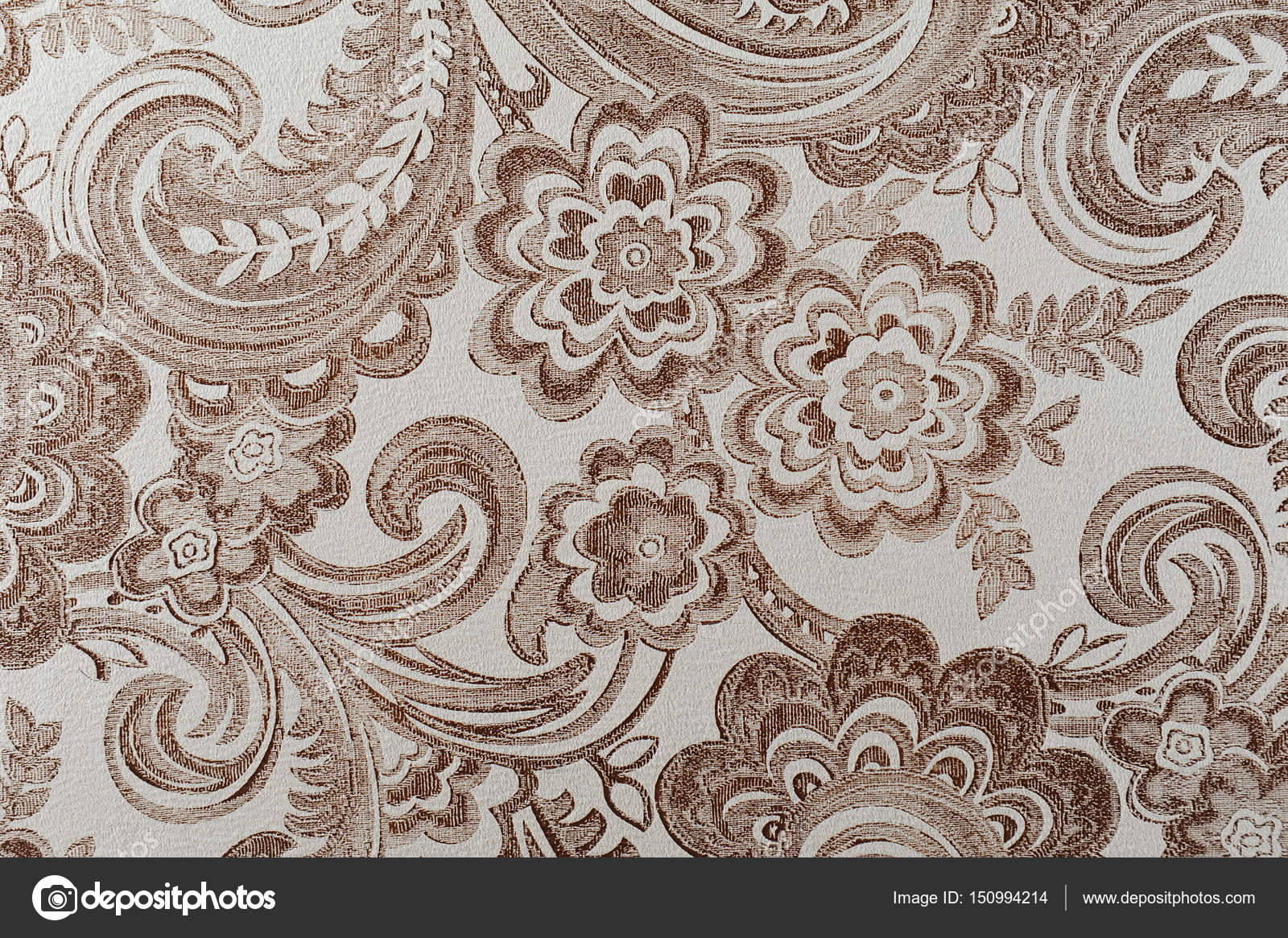 Texture Of A Furniture Fabric With A Pattern Stock Photo