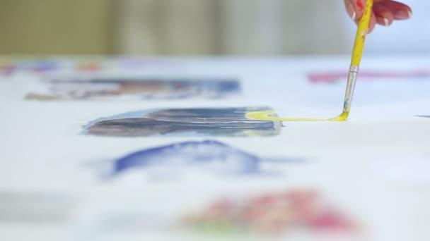 žena umělec Malba akvarel barvy
