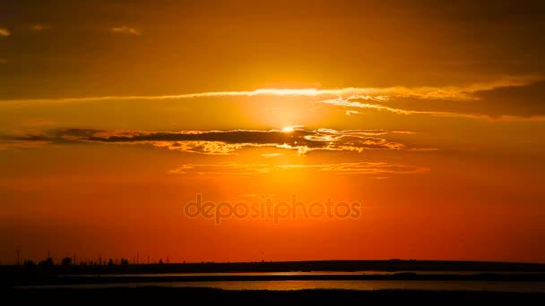 Západ slunce krajina