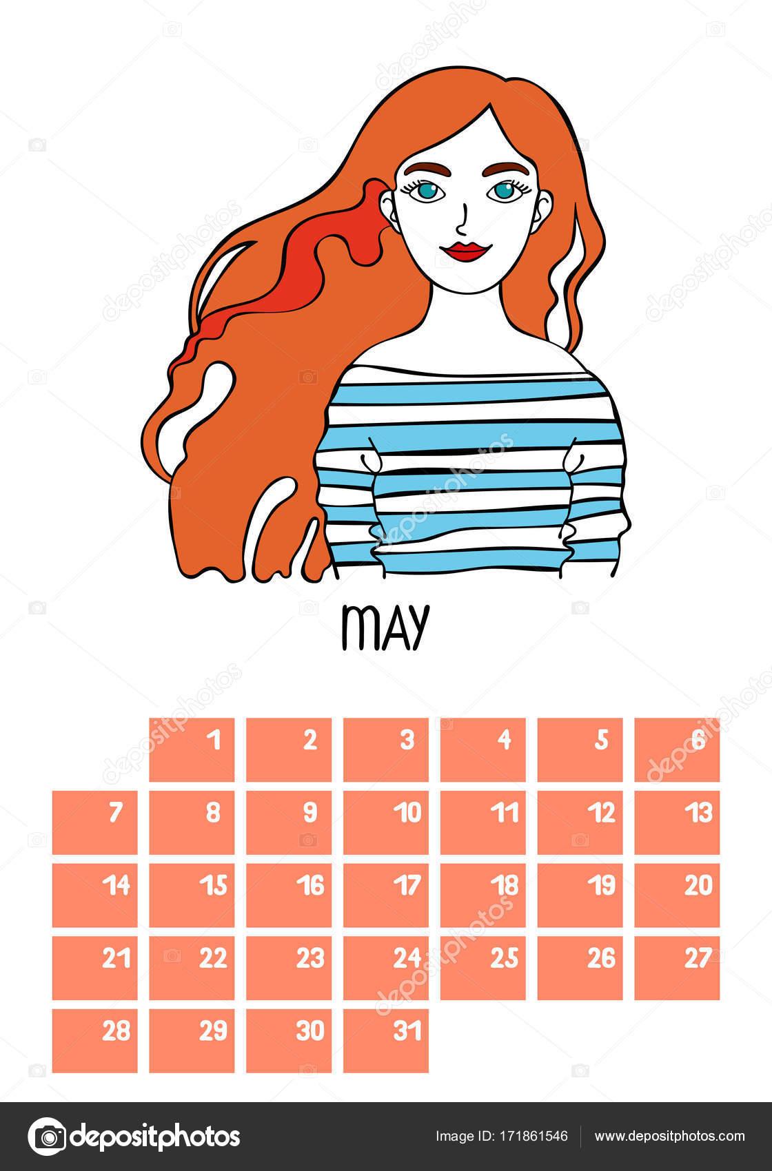 female 12 month calendar