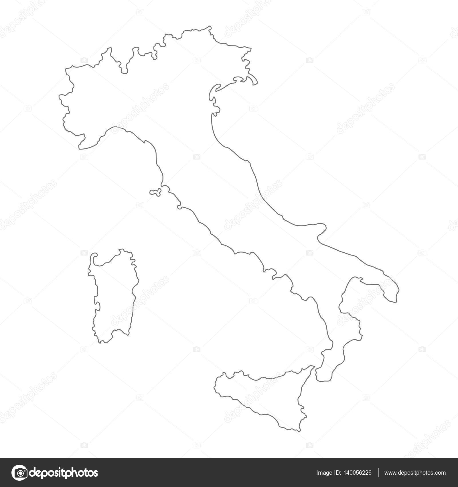 Map Of Italy Outline.Outline Vector Italy Map Stock Vector C Pingebat 140056226