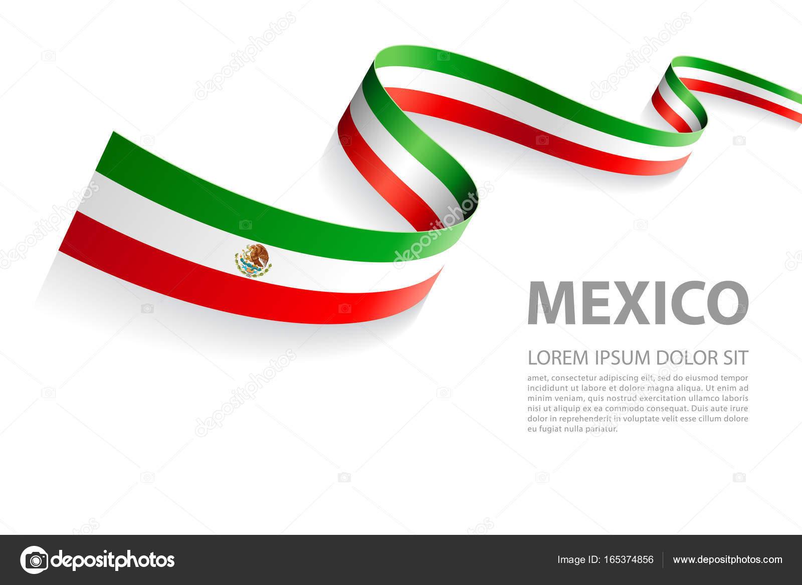 Vector bandera de bandera mexicana — Vector de stock © pingebat ...