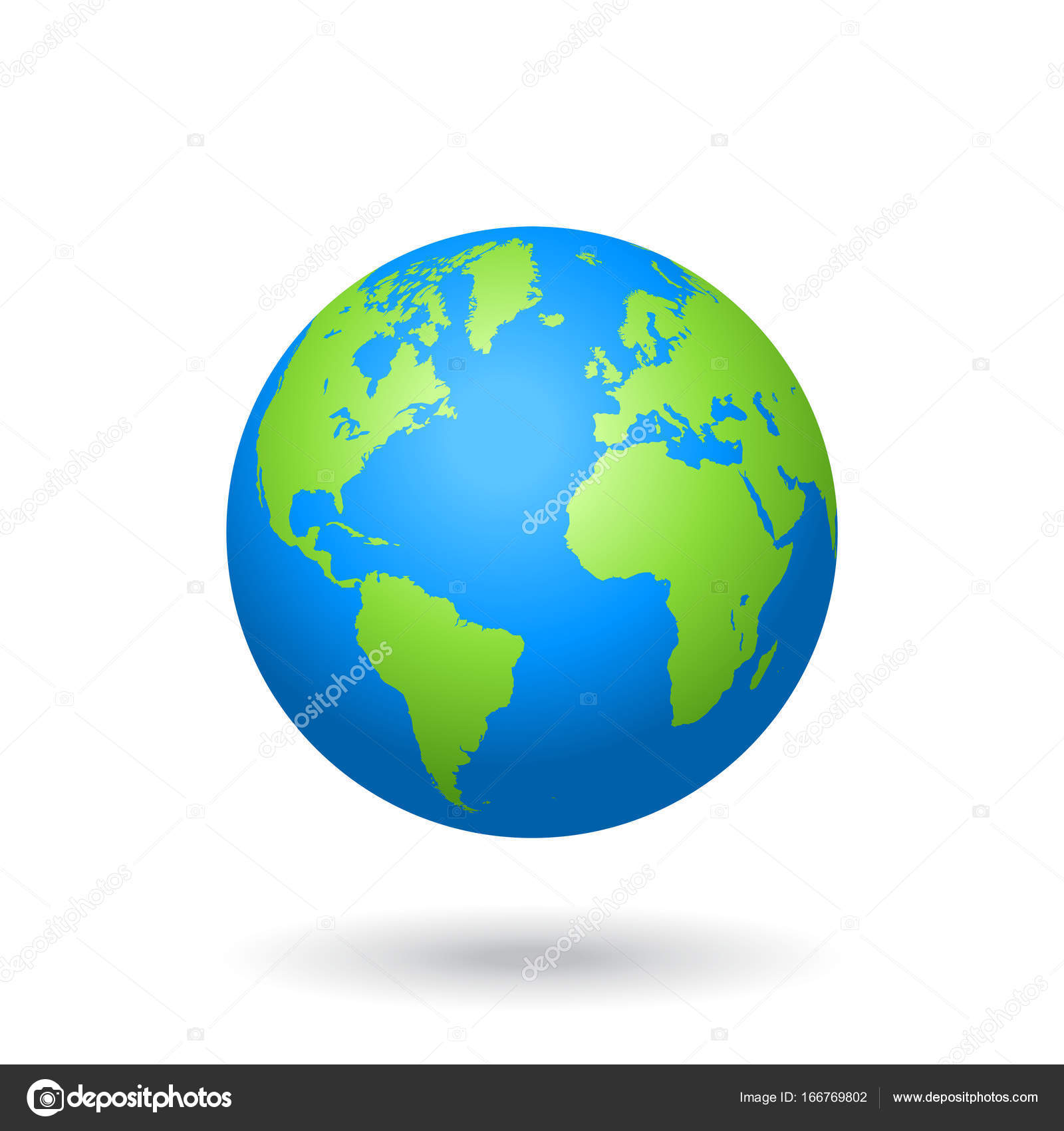 Vector globe colored world map stock vector pingebat 166769802 detailed colored world map mapped on a globe isolated on white background vector by pingebat gumiabroncs Image collections