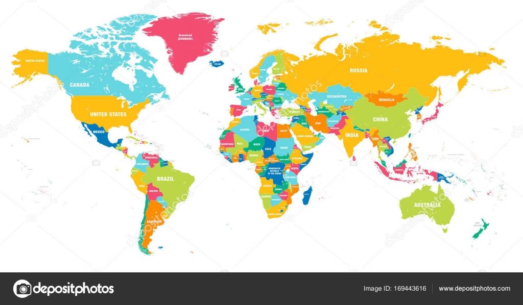 mapa do mundo colorido vector vetor de stock pingebat 169443616. Black Bedroom Furniture Sets. Home Design Ideas