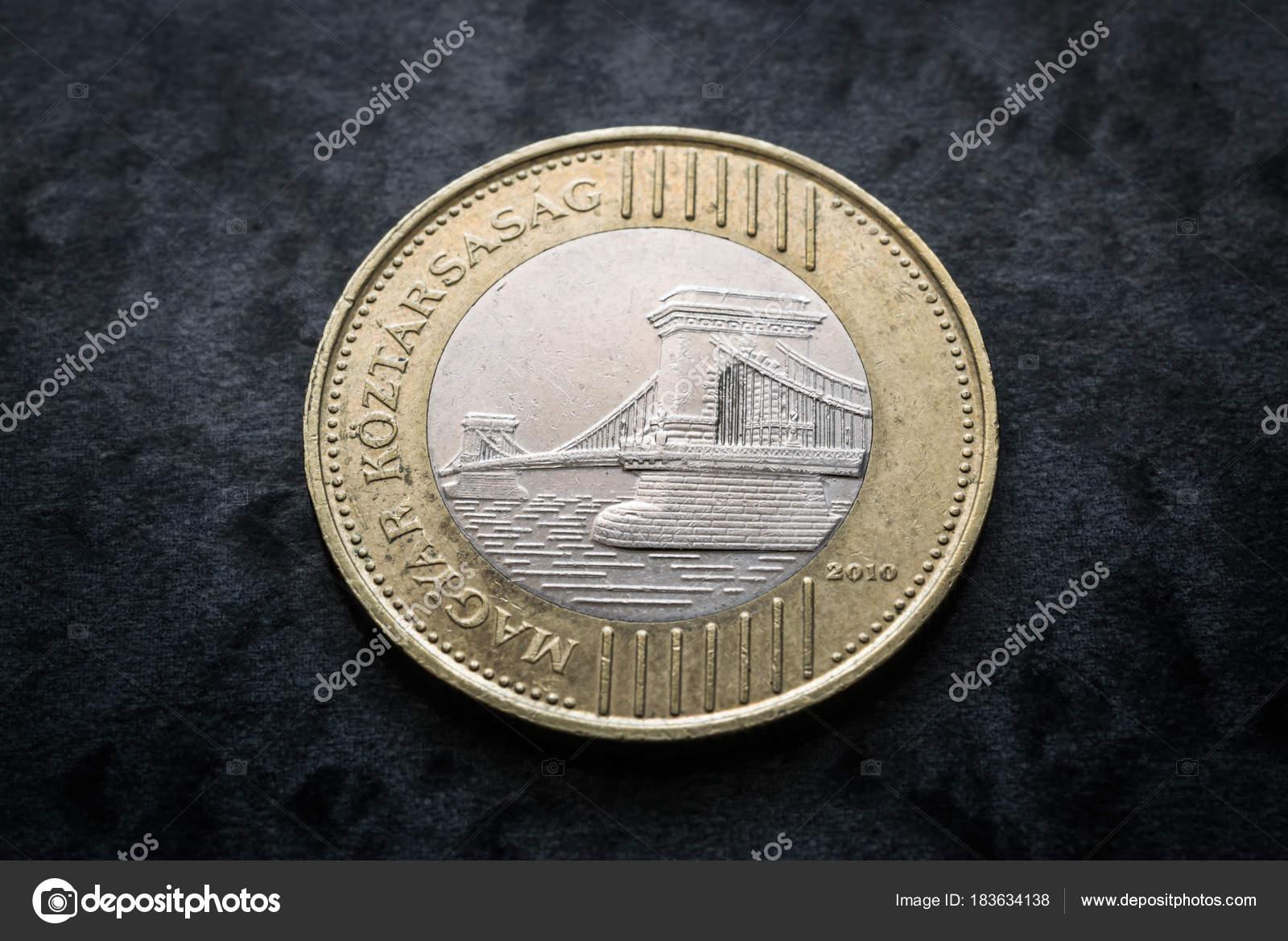 Moneda Hungria Monedas 200 Forint Inversa Con Puente Budapest Cerca