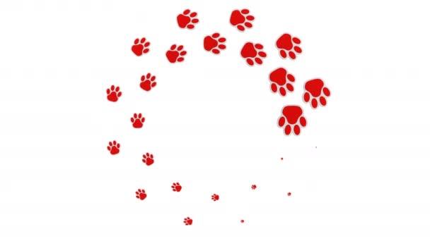 Rakodási forduló jel - kutyák-mancs jelei. 3D-leképezés.