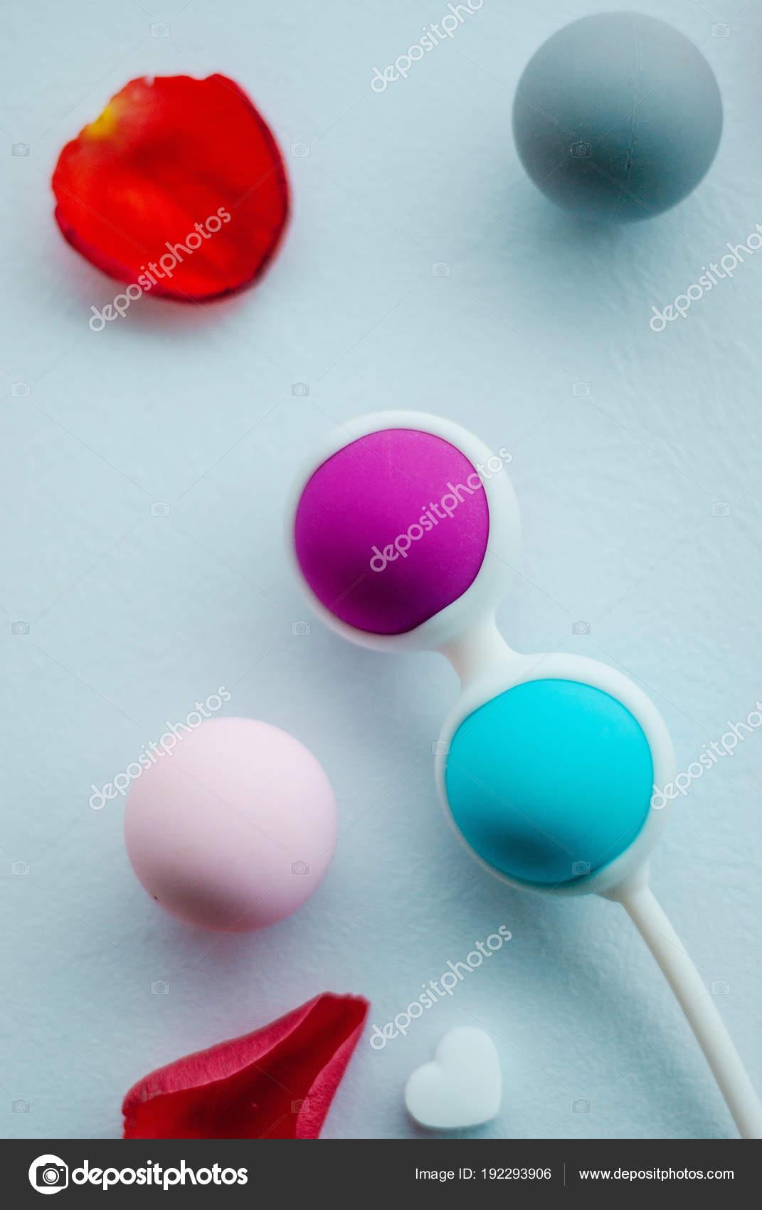 Color Kegel Balls Stock Photo