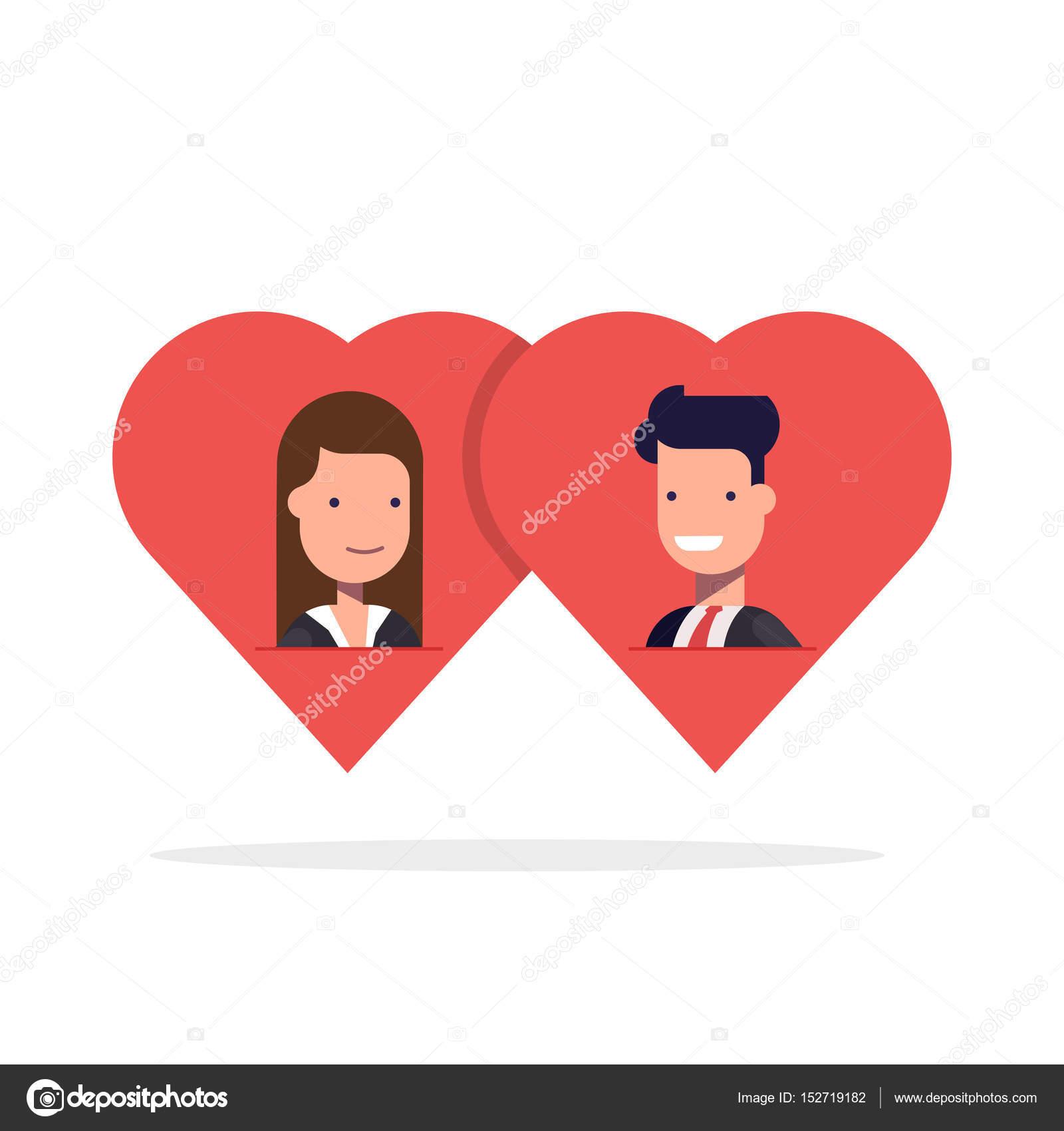 Homme et femme dans l amour deux coeurs ensemble id e - Clipart amour ...