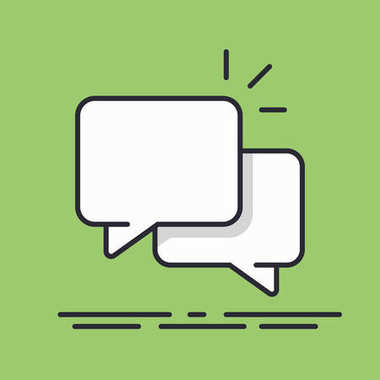 Speech bubbles Icon vector line design isolated background.