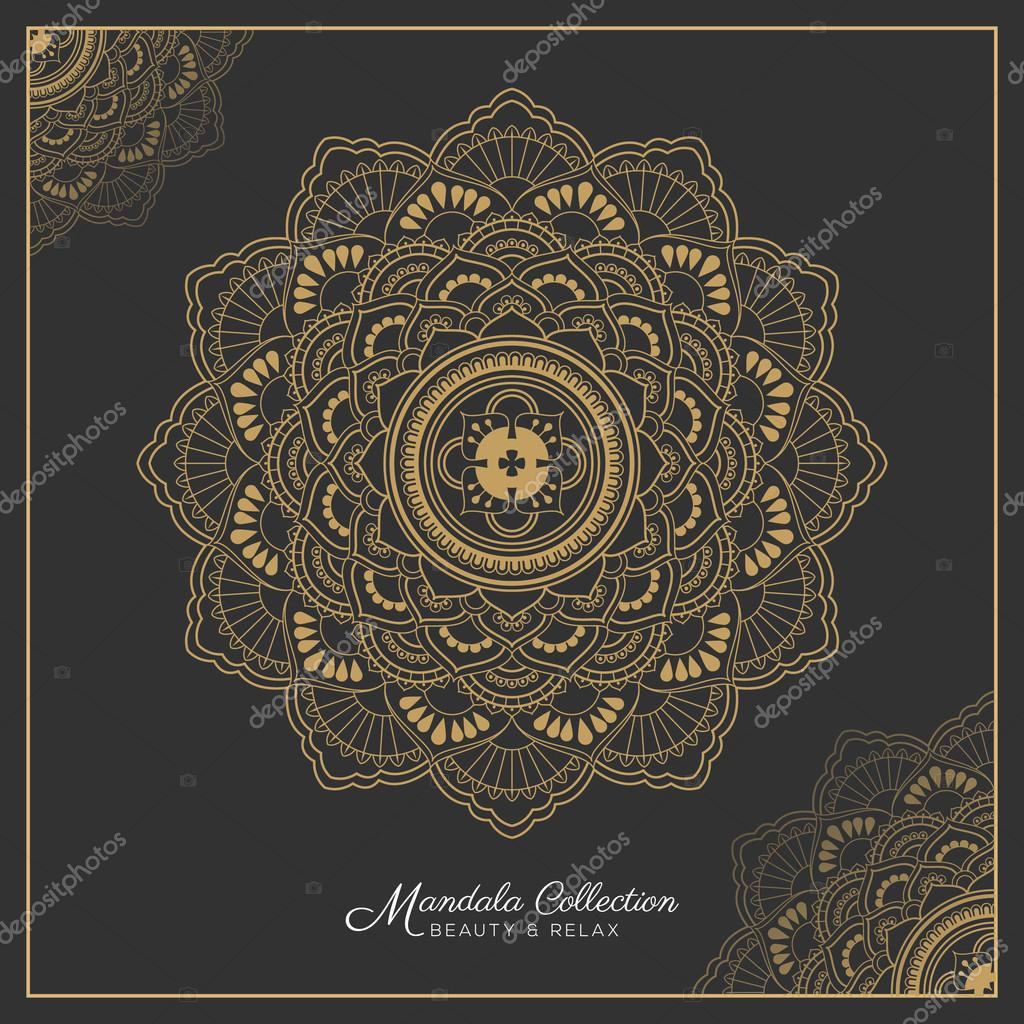 Henna Mandala Tattoo Design Stock Vector C Raftel 125721824