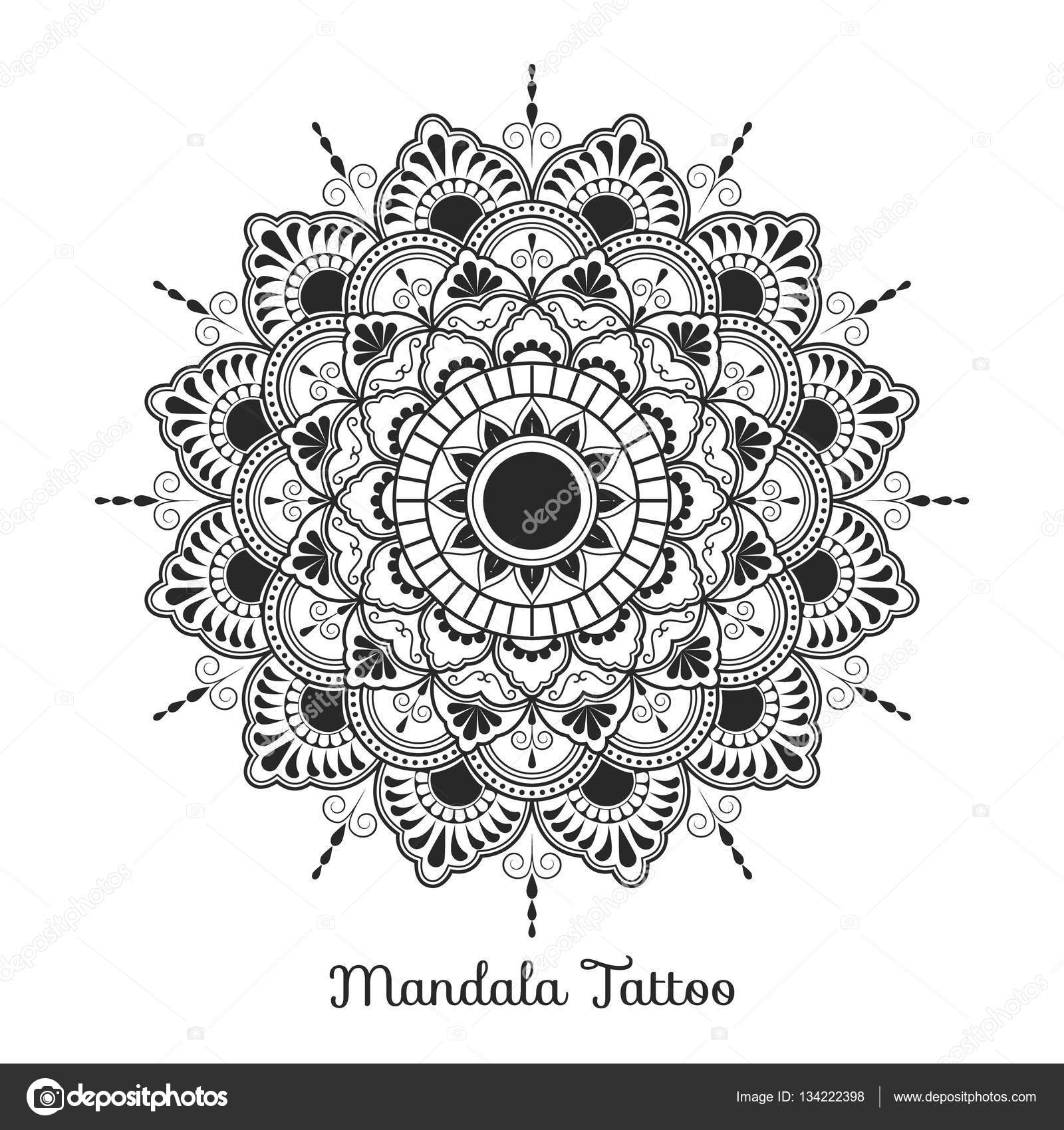 Dibujos Arabes Para Tatuajes Diseño De Mandala Adorno Decorativo
