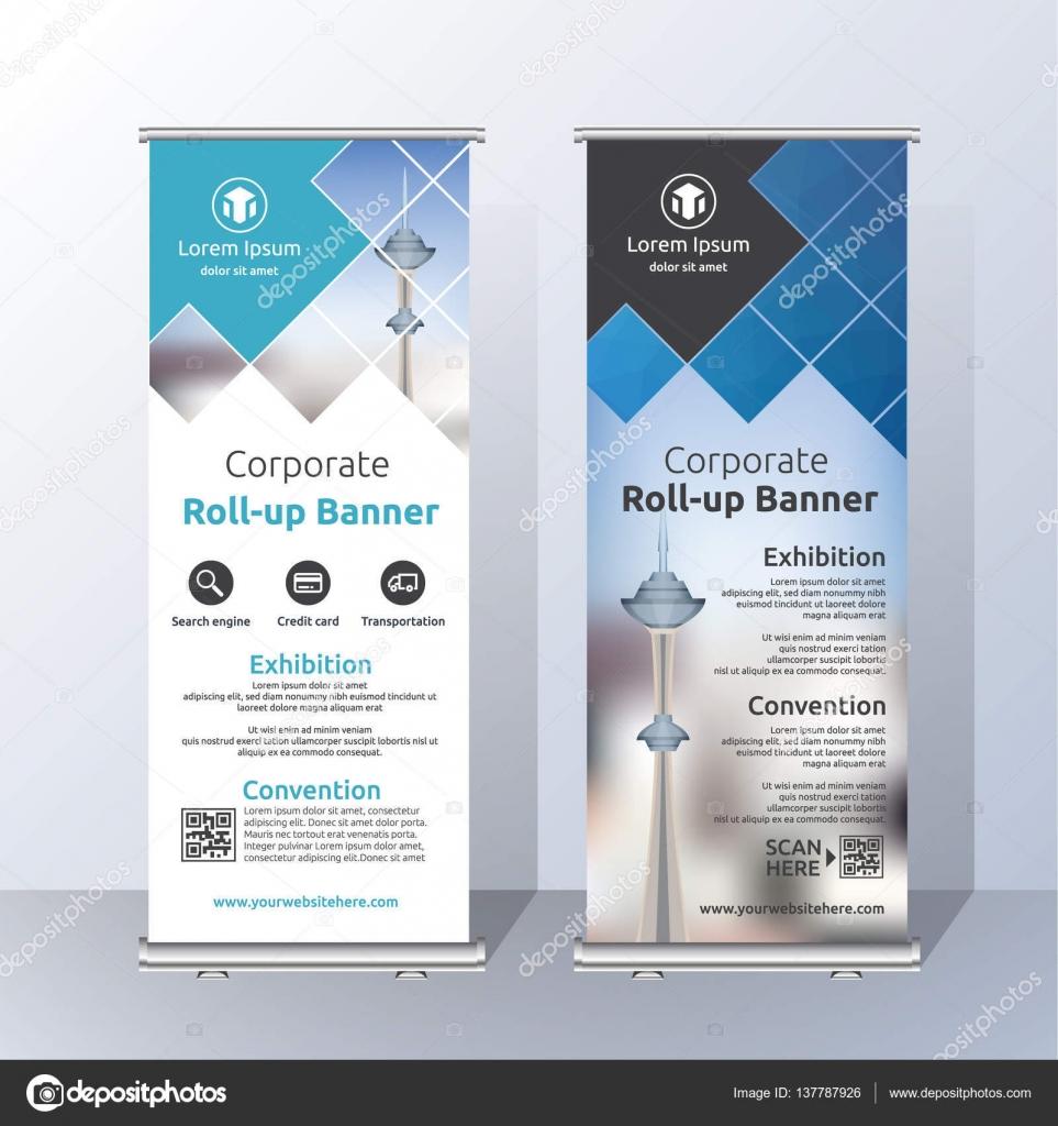 Vertical Roll Up Banner Template Design — Stock Vector © raftel ...
