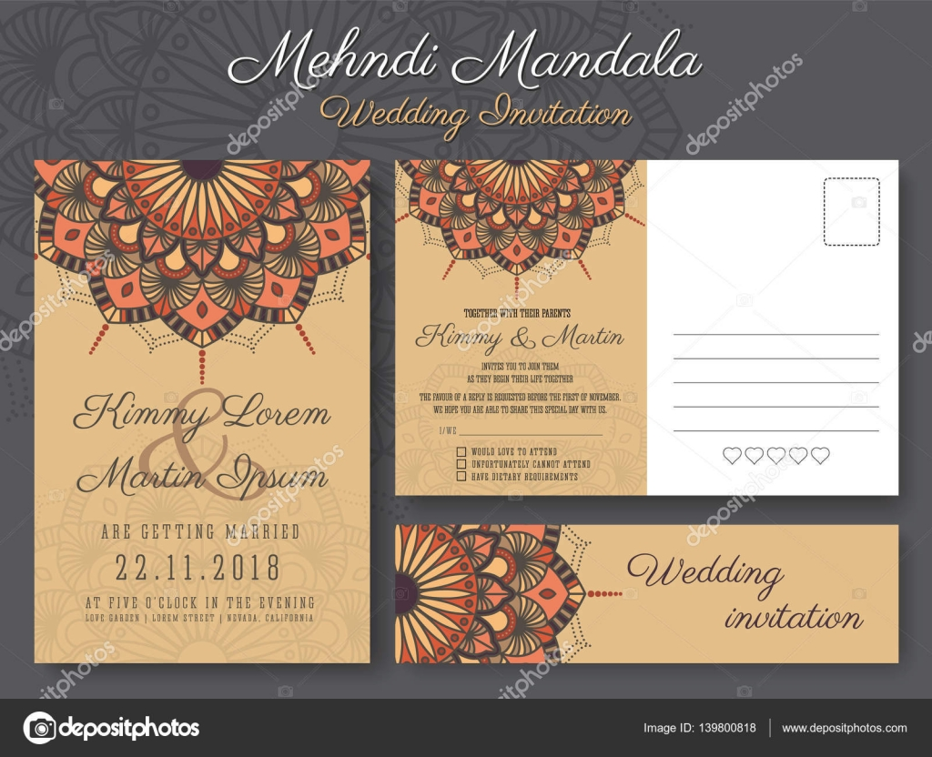 Classic vintage wedding invitation card design — Stock Vector ...