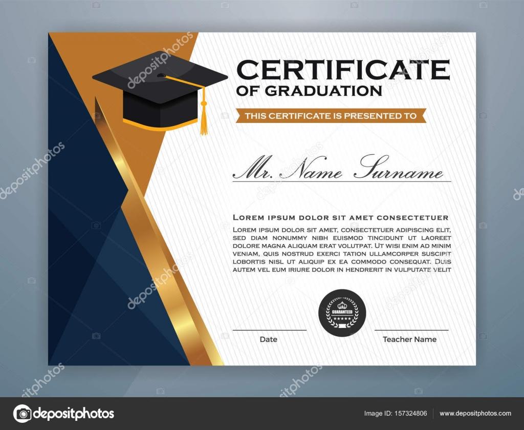High school diploma certificate template design stock vector high school diploma certificate template design stock vector yadclub Gallery