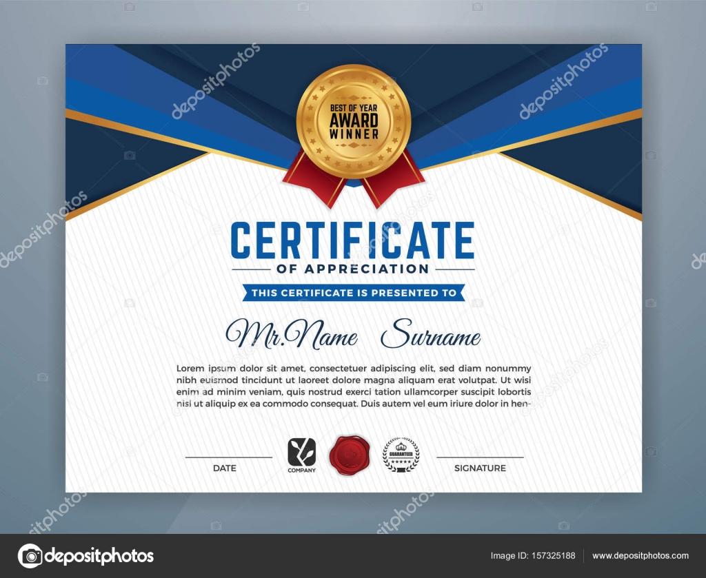 Multifunktionale moderne professionelle Zertifikatvorlage ...
