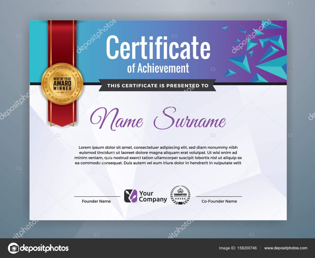 modern professional certificate template design stock vector