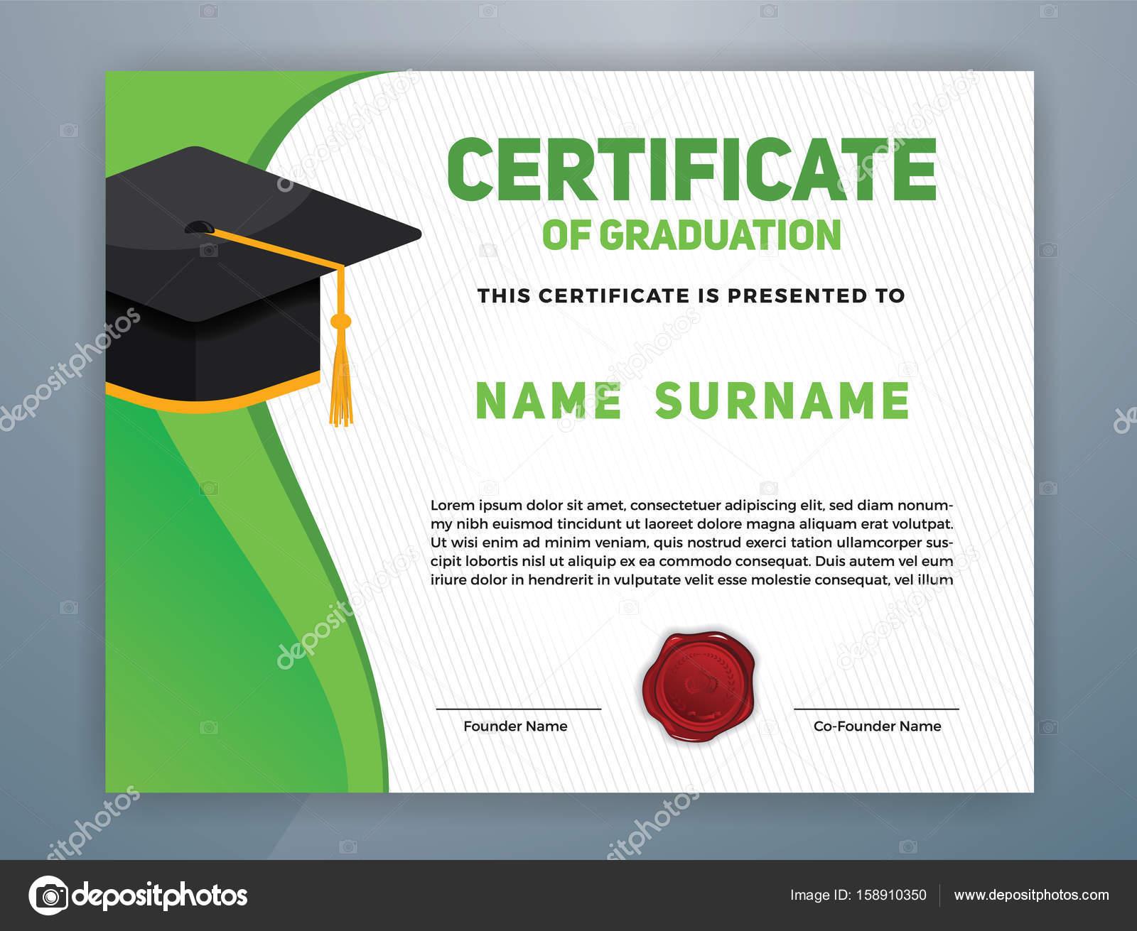 Certificate of graduation design template stock vector raftel certificate of graduation design template stock vector alramifo Images