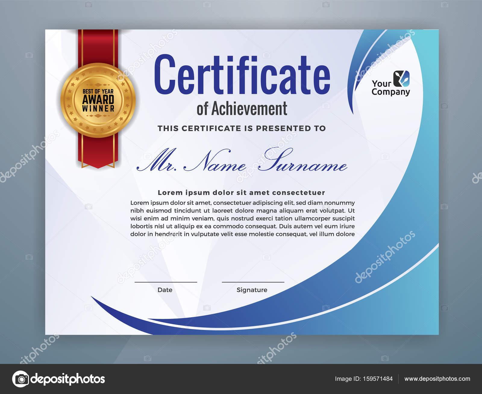 Moderne professionelle Zertifikatvorlage — Stockvektor © raftel ...