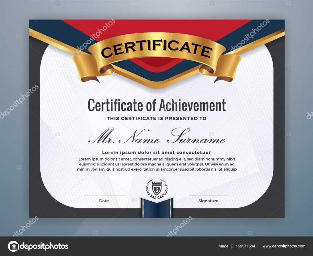 Modern Professional Certificate Template Stock Vector Raftel