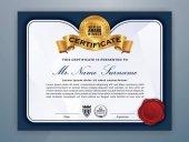 Moderní profesionální Vystavovaná šablona certifikátu