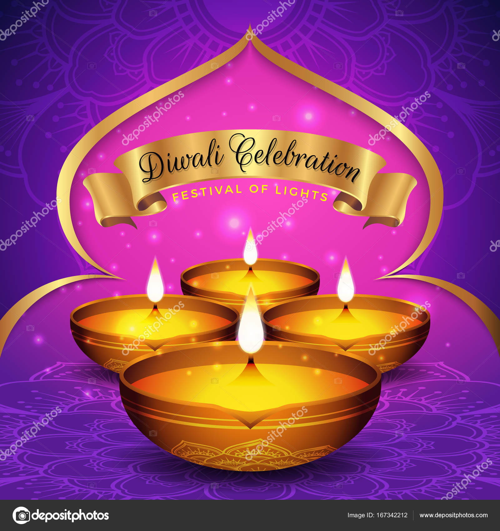 diwali festival flyer and poster background stock vector raftel