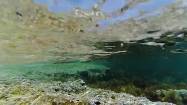 Mořské vlny se snímání pod vodou