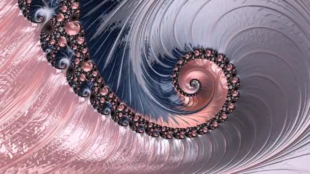 Color changing abstract spiral fractal pattern.