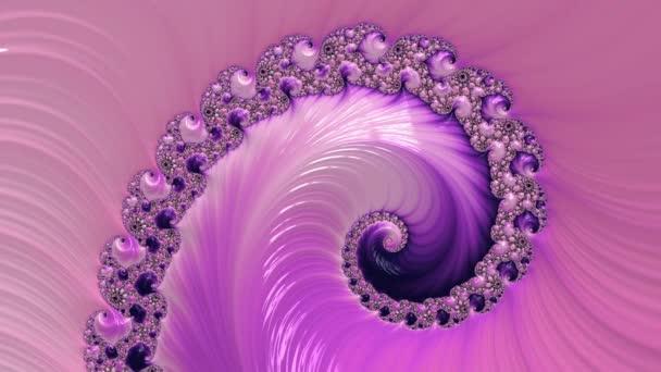 Rózsaszín és lila színű változó texturált spirál fraktál. A tervezés absztrakt háttere.