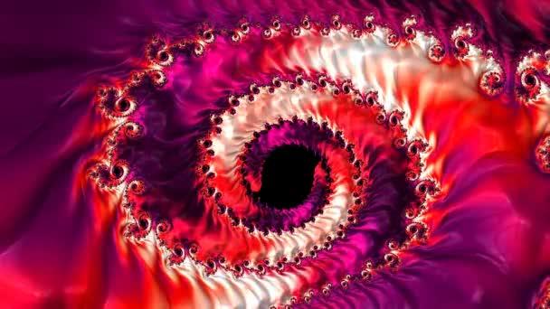 Bright color changing abstract spiral fractal. Festive artwork for design.