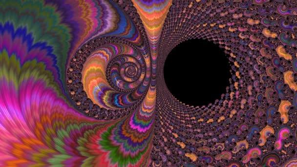 Color changing abstract spiral fractal. Festive artwork for design.
