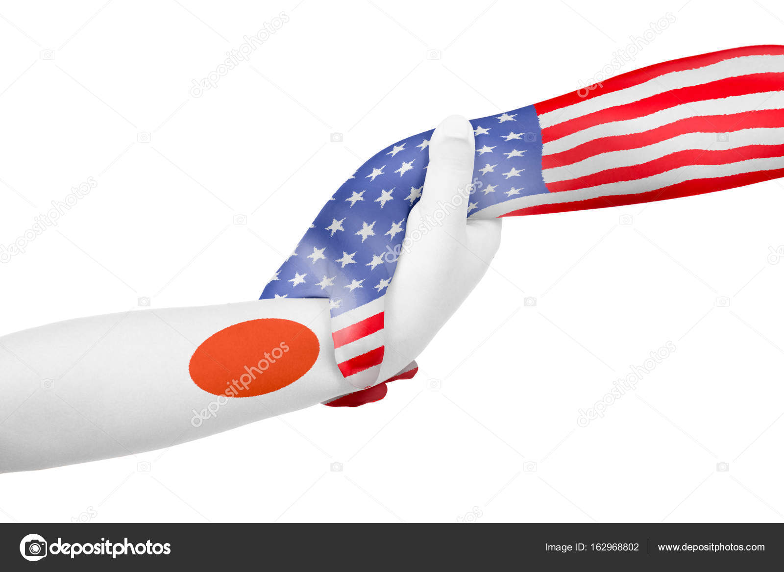 Helping Hands Of America >> Helping Hands Of United States Of America And Japan Stock